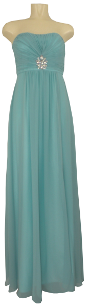 Ballkleid lang in Pouwder-Blue