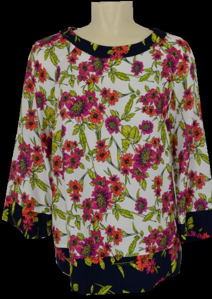 Blusenshirt mit 3/4 Arm in floral gemustert
