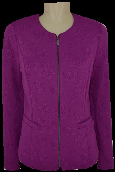 Leichte Jersey Jacke in in violett