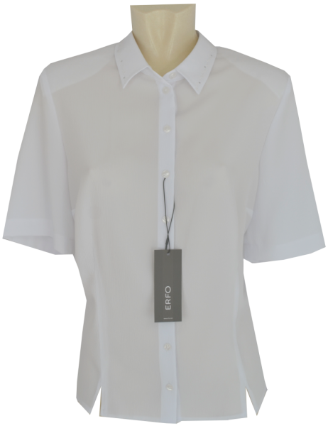 1/2 Arm Bluse in weiß mit Struktur
