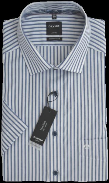 1/2 Arm Freizeithemd mit Streifen in blau