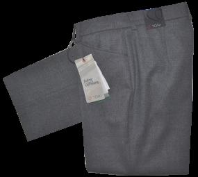 Woll Stoffhose in grau meliert