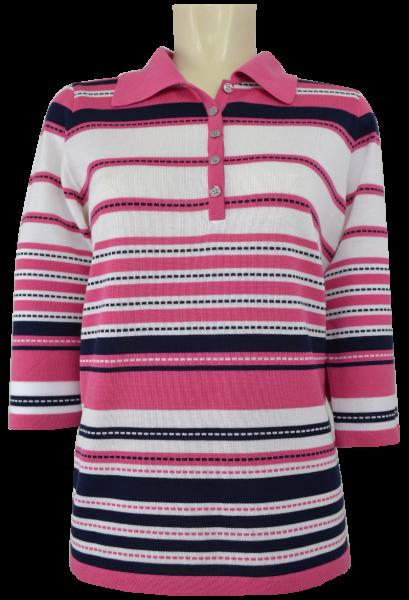 leichter 3/4 Arm Pullover mit Polo Kragen