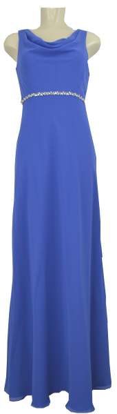 Langes Ballkleid aus Chiffon in in electric blue