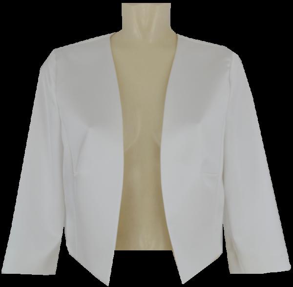 Bolero-Jacke aus Stretch Satin in offwhite