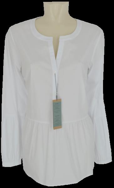 1/1 Arm Long-Bluse in weiß