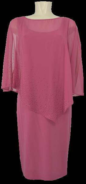 Mittellanges Abendkleid in vintage pink