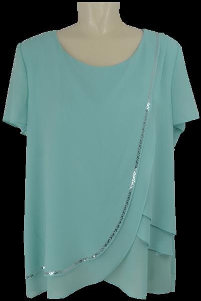 Blusen-Shirt in aquamarin