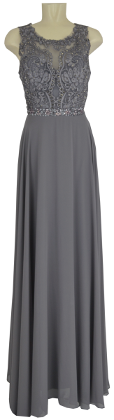 Langes Ballkleid in grau