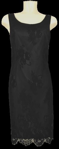 Mittellanges Spitzenkleid in schwarz-schwarz