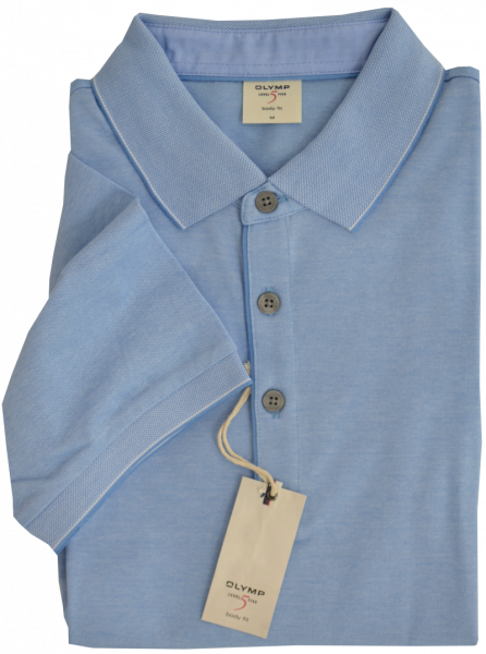 1/2 Arm Polo Shirt in hell blau meliert