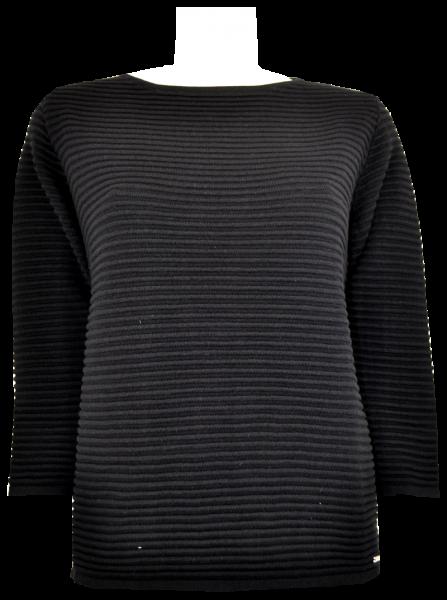 Pullover in schwarz in Rippen Optik