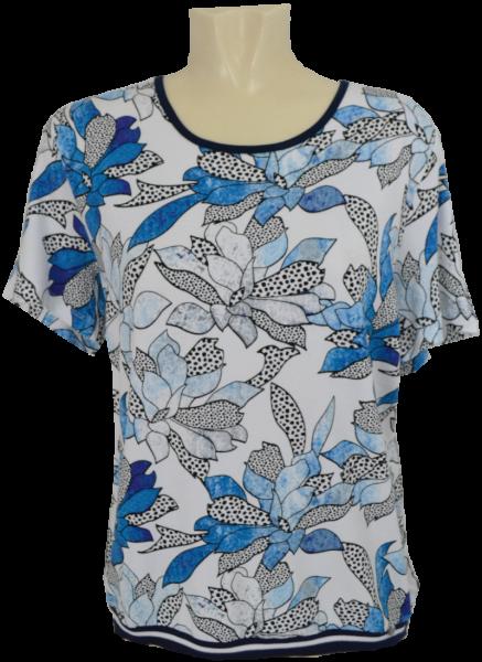 1/2 Arm Shirt in mehrfarbig gemustert mit blau