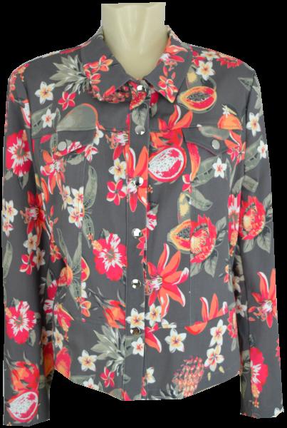 Kurze Blazer Jacke in floral gemustert