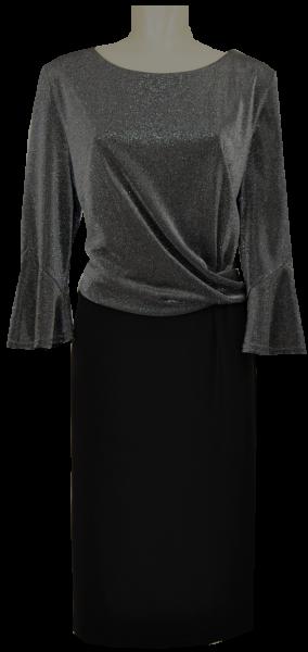 Mittellanges Kleid in schwarz-silber