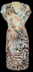 Mittellanges Kleid in allover gemustert