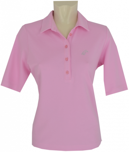 1/2 Arm Pikee Polo Shirt in uni Rose