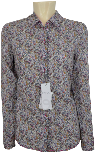 Bluse mit Paisley Dessin in allover gemustert