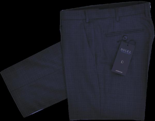 Anzughose in dunkel blau mit Struktur