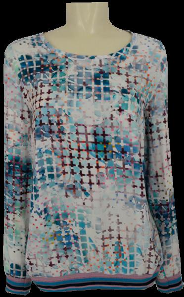 1/1 Arm Blusen Shirt mit Bündchen