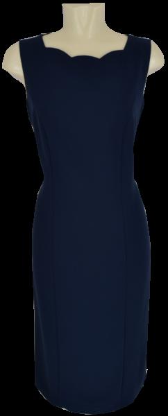 Mittellanges Kleid in marine