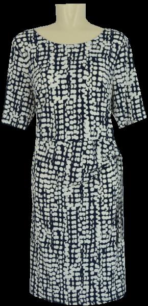 Sommerliches Kleid in allover schwarz-weiß gemustert