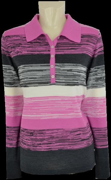 Pullover mit Kragen in mehrfarbig gemustert