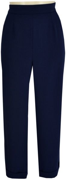 Gerade geschnittene 7/8 Hose in navy