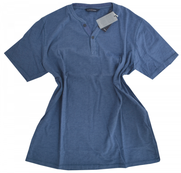 1/2 Arm T-Shirt in blau meliert