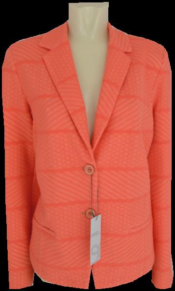 Jersey Blazer-Jacke in coral