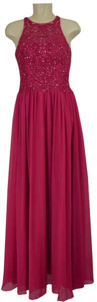 Langes Ballkleid in holly berry