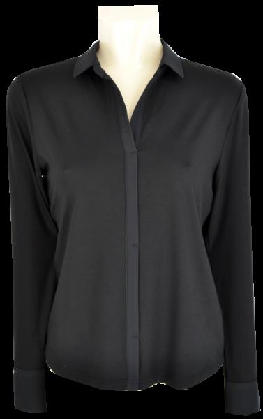 1/1 Arm Jersey Blusenshirt in schwarz