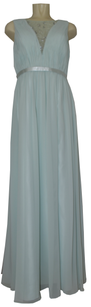 Ballkleid lang in jade mint