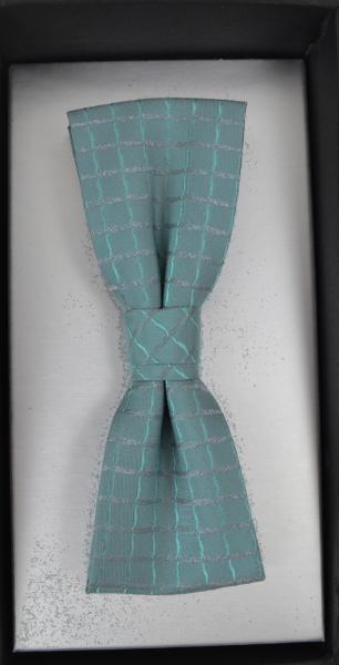 Schleife in mint-silber gemustert