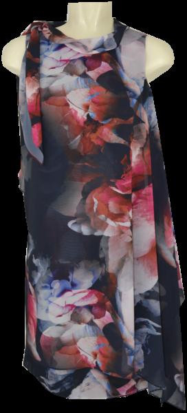 Mittellanges Kleid in floral gemustert
