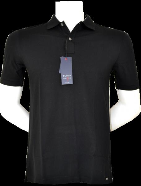 1/2 Arm Polo Shirt in uni schwarz