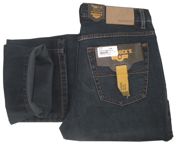 Jeans Ranger in blue black dark used