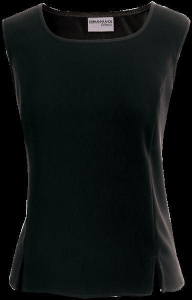 Top mit Schlitzen in schwarz