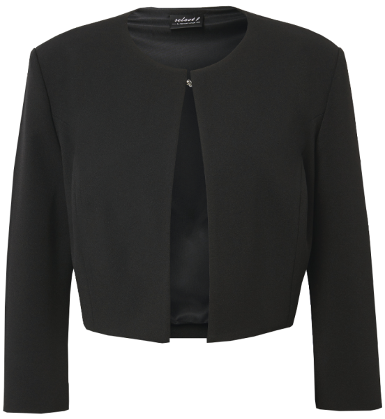 Jersey-Crepe Kleiderjacke in schwarz
