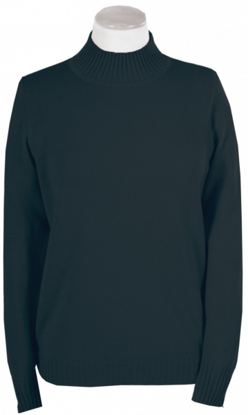 Pullover mit Stehbund in anthrazit