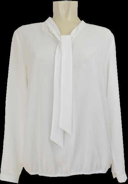 Bluse in hart weiß mit Schluppe