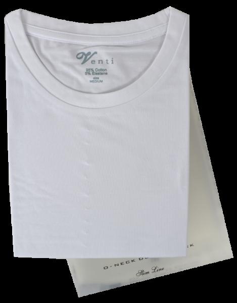 T-Shirt weiß im Doppelpack mit V-Ausschnitt