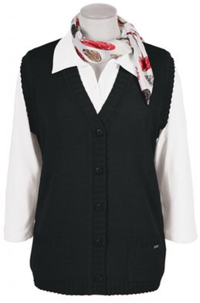 Cardigan Strickweste als 5-Knopf in schwarz