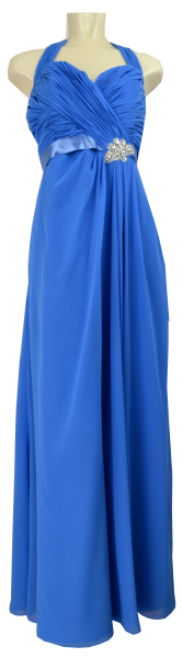 Ballkleid lang aus Chiffon in royal