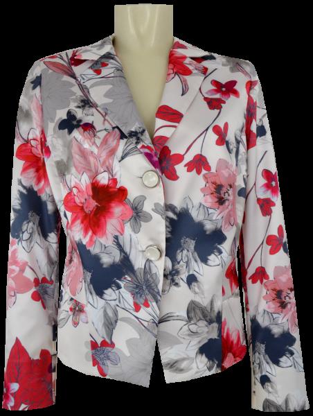 Blazer-Jacke mit 1/1 Arm in floral gemustert