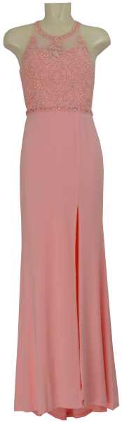 Langes Chiffon Ballkleid in rose cloud
