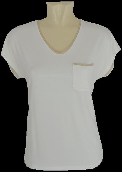 1/4 Arm Shirt in offwhite mit Glanz