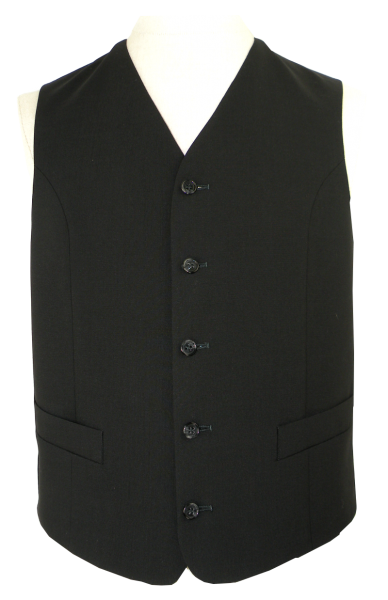 Anzugweste in schwarz