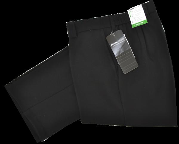 Schwarze Stoffhose in Kurzgröße