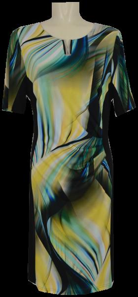 Mittellanges Kleid in multicolor